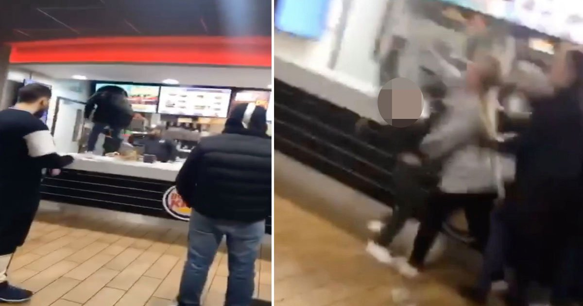 women attacked burger king worker.jpg?resize=1200,630 - Two Women Climbed Over The Burger King Counter To Attack A Worker