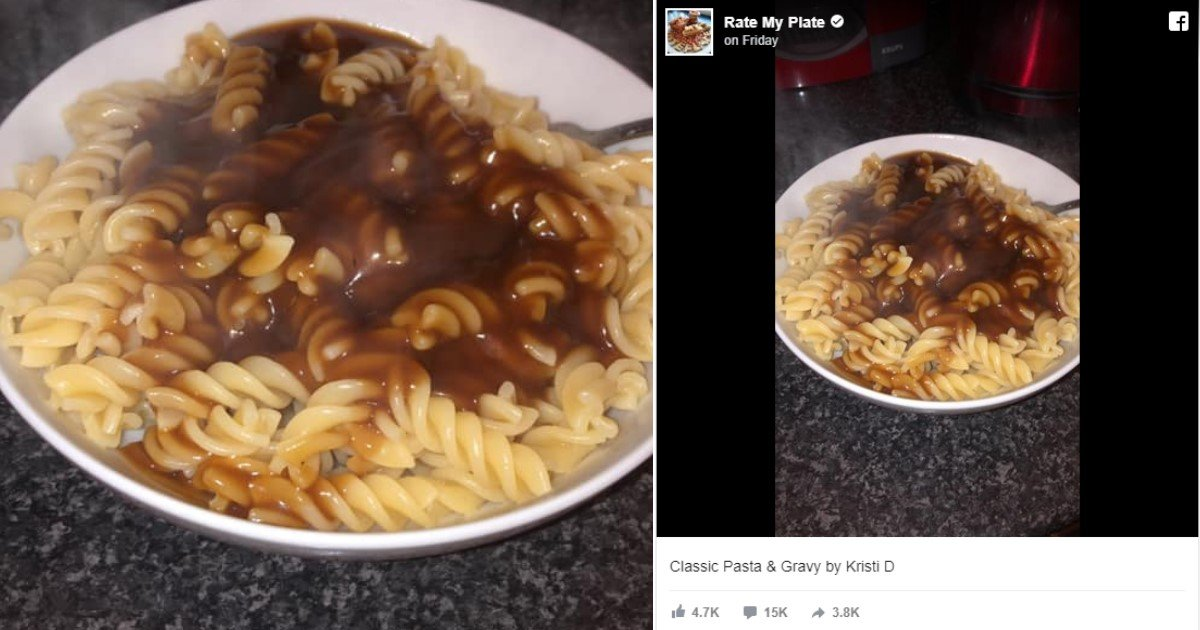 1 128.jpg?resize=412,232 - A Photo Of A 'Classic Pasta And Gravy' Dish Started A Culinary Debate