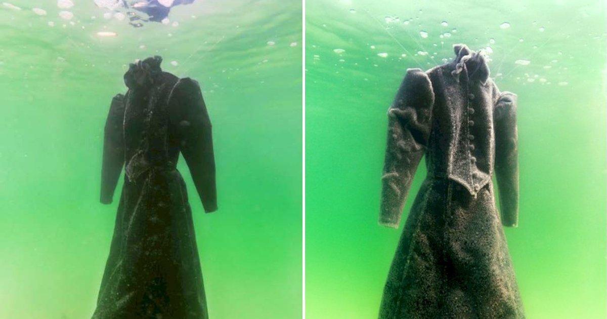 1 227.jpg?resize=1200,630 - Un Vestido De Novia Negro Fue Dejado En El Mar Por 2 Años Y Se Convirtó En Una Obra Maestra