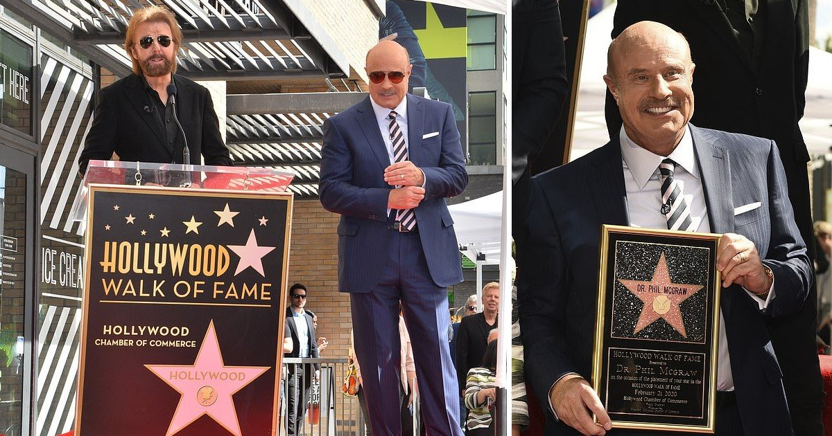 1 247.jpg?resize=412,232 - Dr. Phil Finally Got A Star On Hollywood Walk Of Fame After Being The King Of Daytime Television For 20 Years