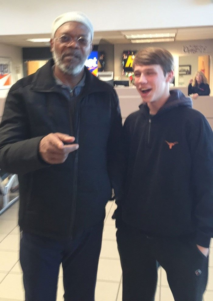 One Time I Saw Samuel L. Jackson At An Airport And He Saw Me And My Cousin Hovering Around Trying To Work Up The Courage To Ask Him For A Photo And Then He Came Over To Us And Said, 'Y'all Motherf**kers Want A Photo?