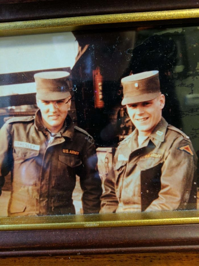 My Grandfather (Right) With Elvis Presley (Left) In Post-War Germany. Late 1950