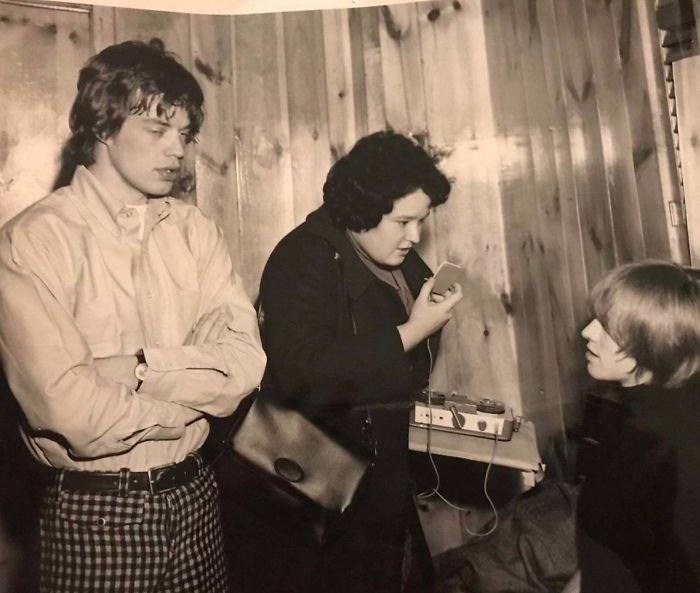 My Mom Interviewing Jagger And Brian Jones For Tiger Beat Magazine In The Late 1960