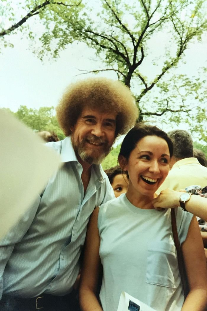 My Mom And Bob Ross During An Event In Central Park, NYC In 1989