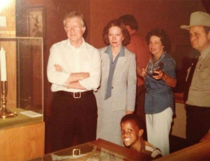 My Uncle Photo Bombing Jimmy Carter, 1980