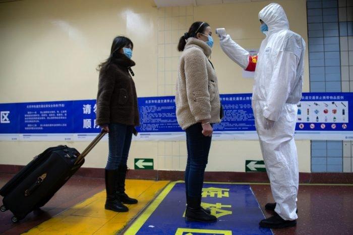 coronavirus temperature check getty images