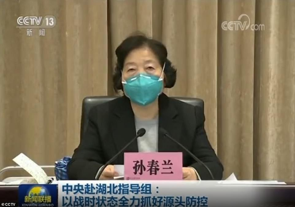 A screen grab from a CCTV news programme shows China
