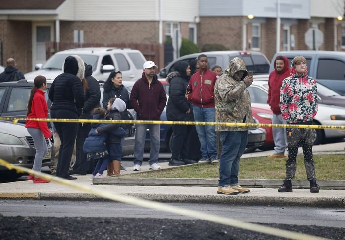 Police investigate the discovery of woman and two small children found dead at the Penns Grove Gardens apartments, Wednesday, Feb. 05, 2020.