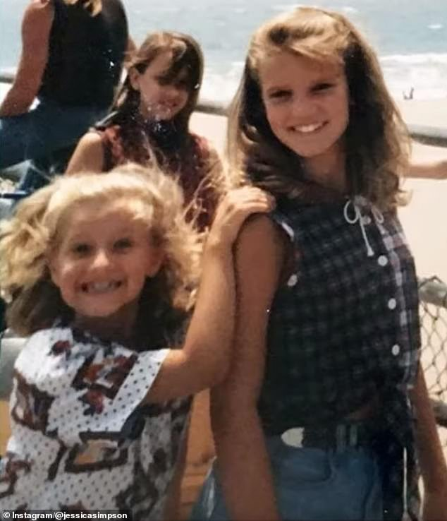 Ashlee (left) and Jessica (right) as children. She said the abuse by the other girl went on for six years