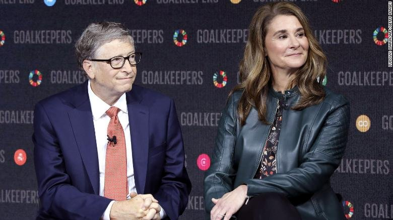 Bill Gates and Melinda Gates at an event in New York in 2018.