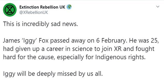 Extinction Rebellion tweeted: