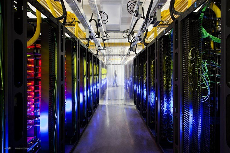 Image: A Google campus-network room at a data center in Council Bluffs, Iowa.