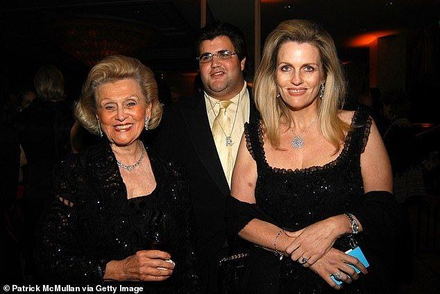 Family portrait: Barbara Davis, Jason and Nancy Davis are shown in March 2006 in Beverly Hills, California
