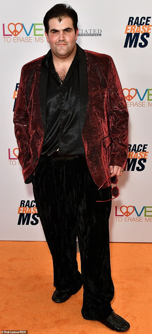 Jason Davis is pictured in May last year at the 26th Annual Race to Erase MS Gala in LA