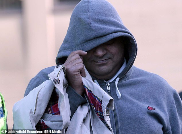Gul Riaz (above), also known as Saj, 43, was unanimously convicted of two counts of rape and two counts of indecent assault on Tuesday
