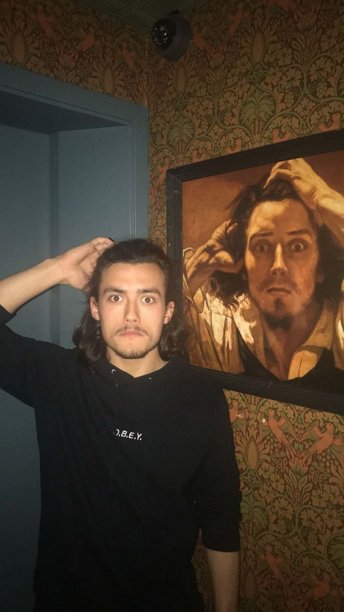 Friend Looks Exactly Like The Painting At A Bar