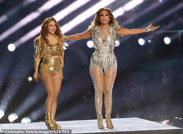 Shakira and Jennifer Lopez at Super Bowl LIV. Some viewers moanedthe show was