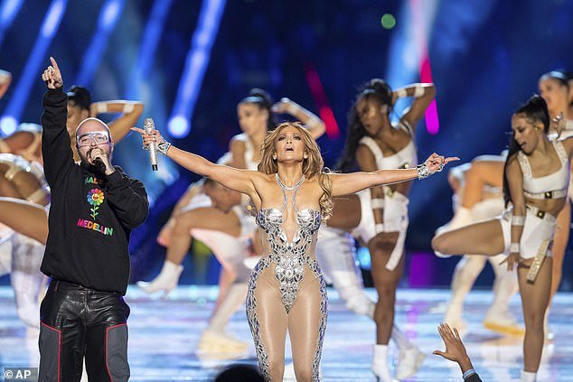 Jennifer Lopez (pictured) was criticized for