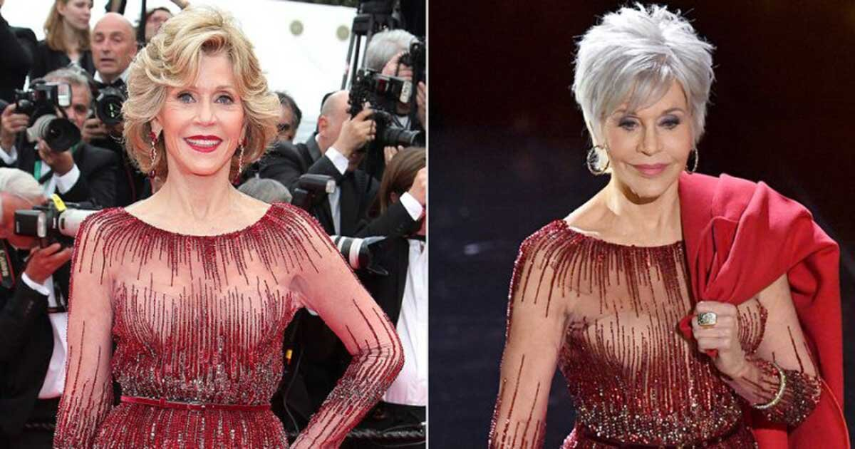 1e1cc8094d335febf612a6b235065099.jpg?resize=1200,630 - Jane Fonda Wowed Everyone With Her Stunning Silver Pixie Cut And Her Reworn Red Gown