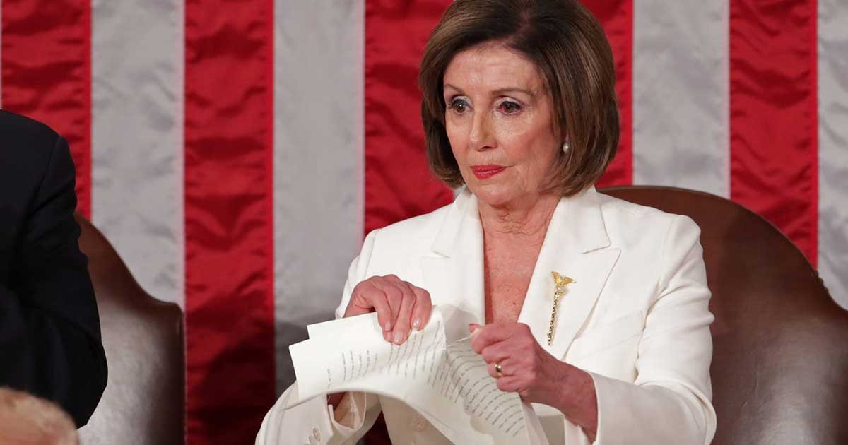 "2 panel 6.jpg?resize=412,275 - Nancy Pelosi in Ripping Up Trump's Speech: ""It Was A Manifesto of Mistruths"""