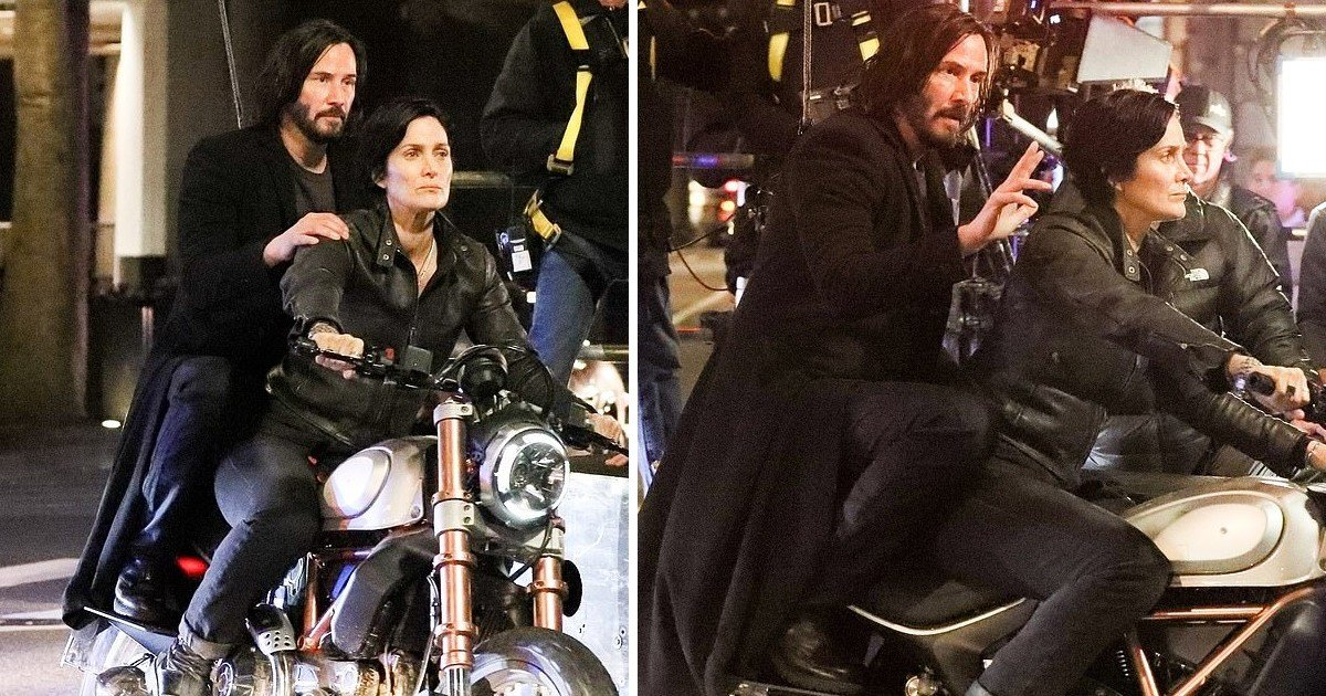 3 129.jpg?resize=412,232 - Keanu Reeves And Carrie-Anne Moss Spotted As The Duo Rode Through San Francisco For The Matrix 4 Shoot
