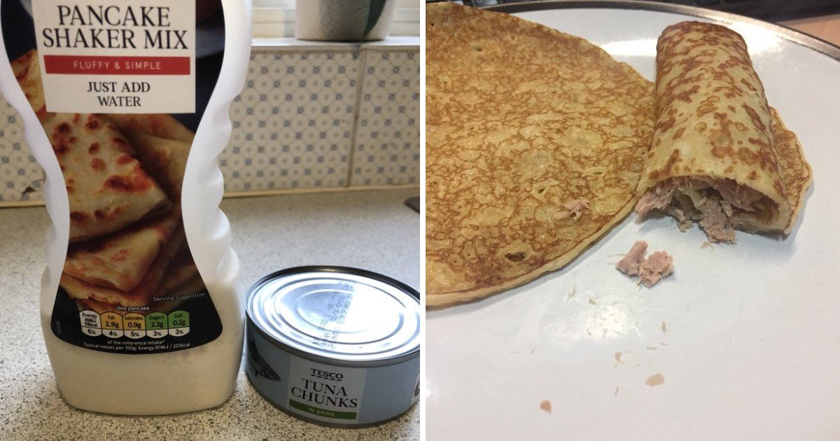 3 154.jpg?resize=300,169 - A Guy Stuffed Pancakes With Canned Tuna And Stirred A Massive Uproar On The Internet