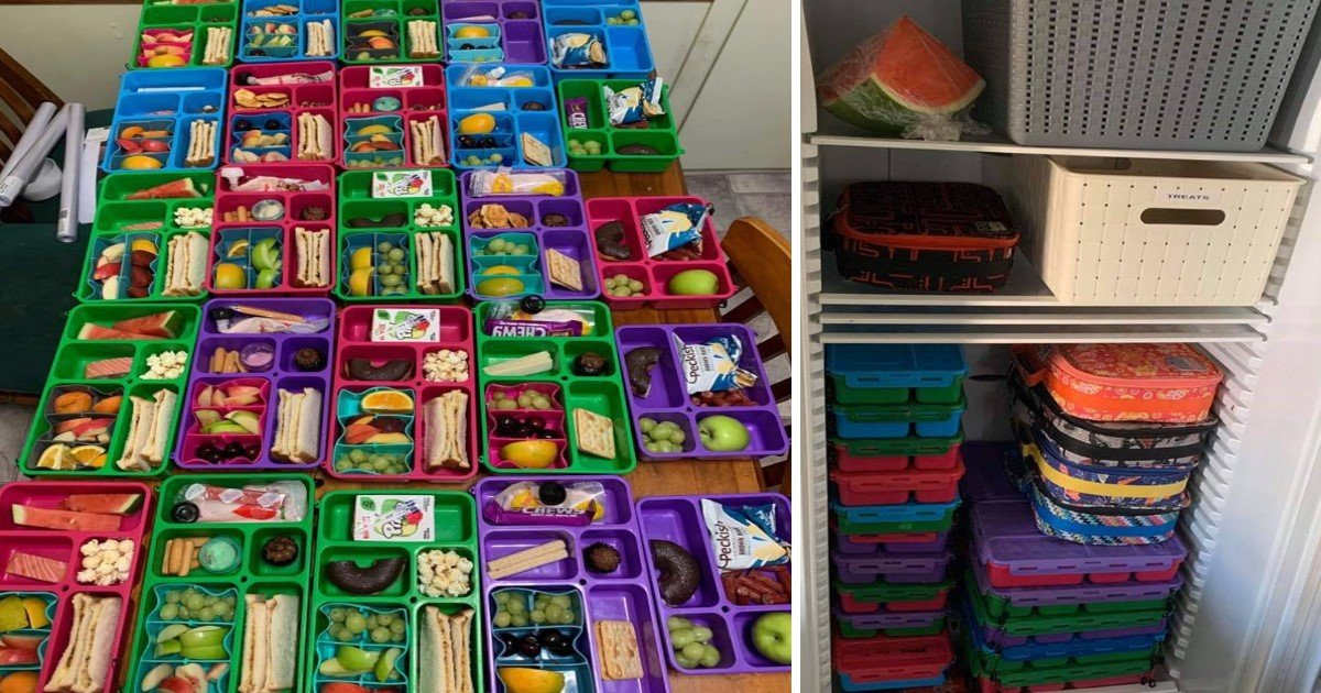 4 10.jpg?resize=1200,630 - A Savvy Mom Prepares A Week's Worth Of Lunches In Advance For Her Family-Of-Five