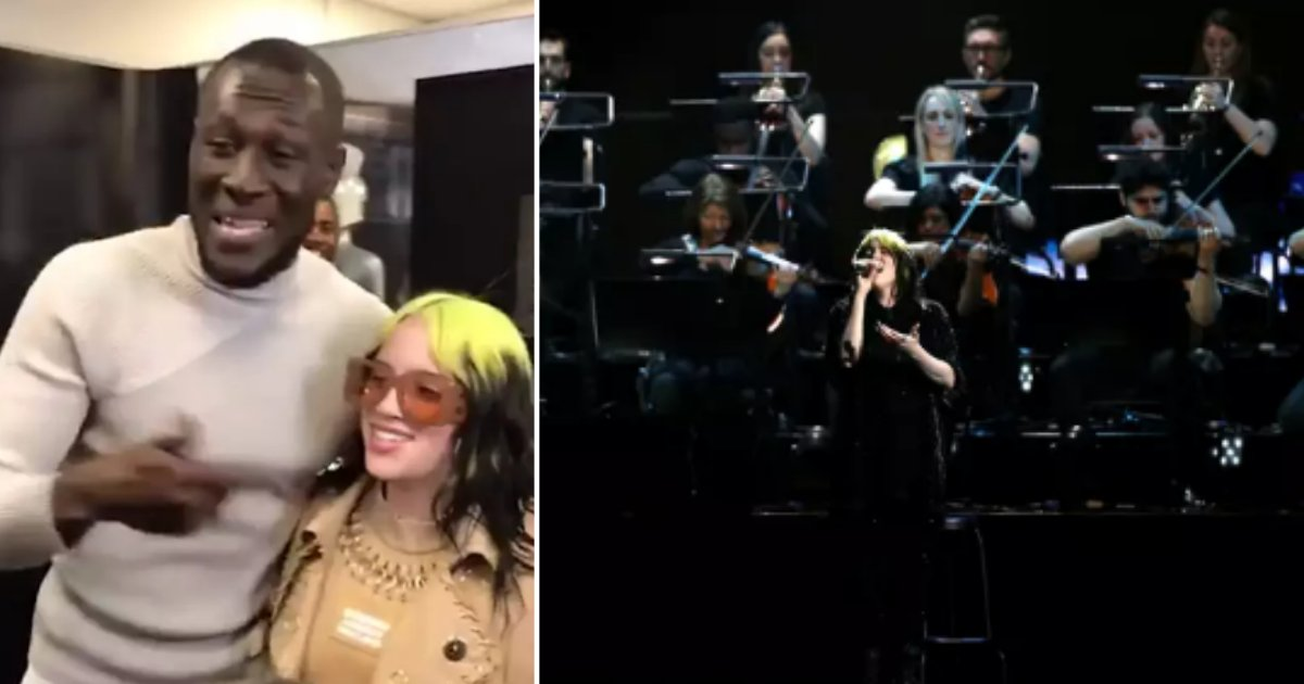 6 42.png?resize=412,232 - Stormzy Seen Fanboying Over Billie Eilish at the BRITS Awards