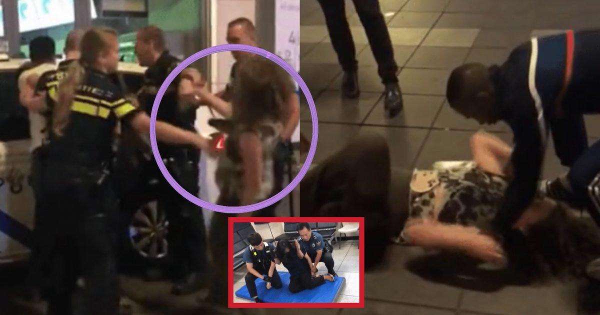 """600068b9 f7b1 4930 bbd0 cf9bfea9231f e1581404017839.jpg?resize=300,169 - """"그냥 막 날라다닌다…""""…네덜란드 경찰의 '만취녀' 대응법.gif(ft.한국경찰)"""