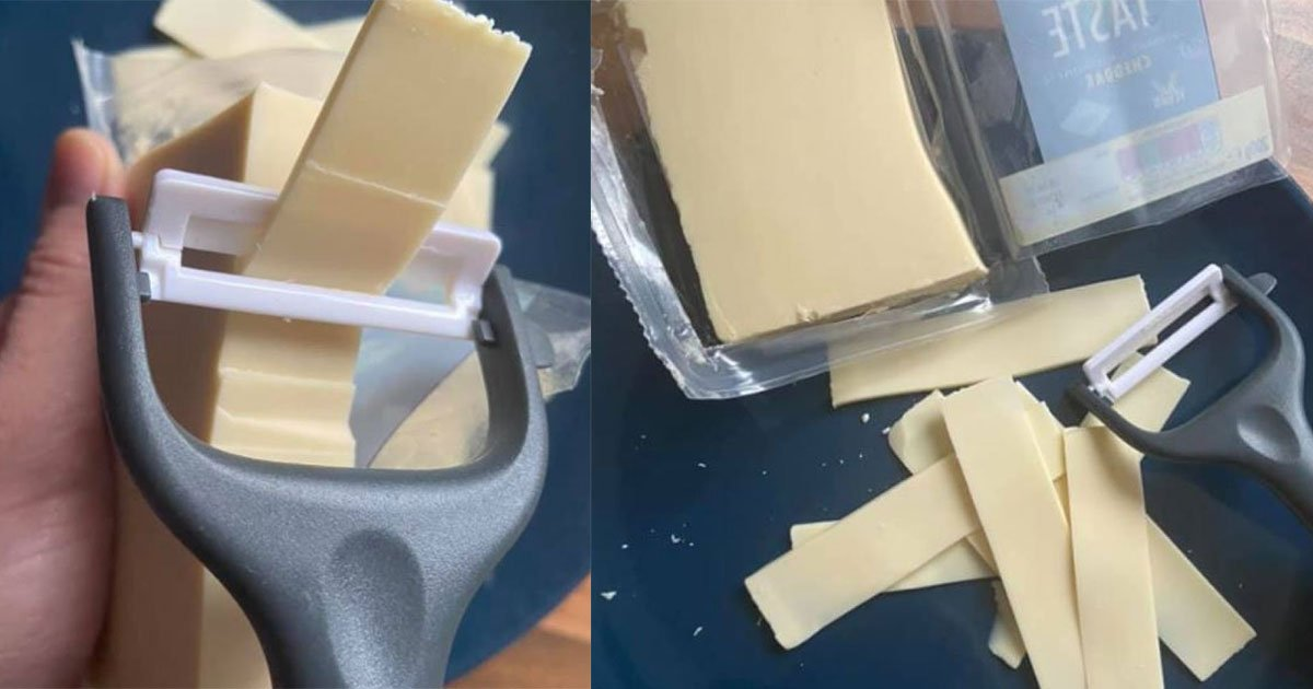 a mom used potato peeler to slice her cheese and people called her genius.jpg?resize=300,169 - A Mom Uses A Potato Peeler To Slice Her Cheese And People Called Her A 'Genius'