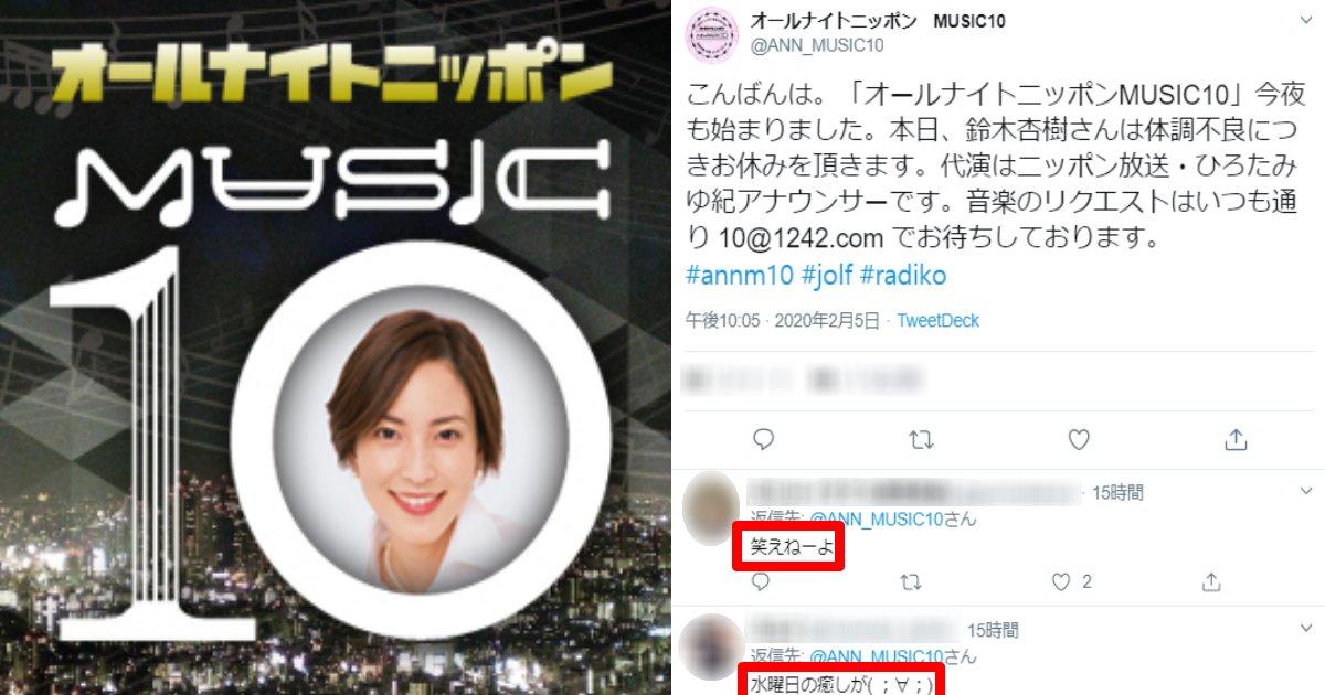 anjyurajio.png?resize=1200,630 - 「体調不良」でラジオ番組を欠席した鈴木杏樹にネット上「逃げたな…」