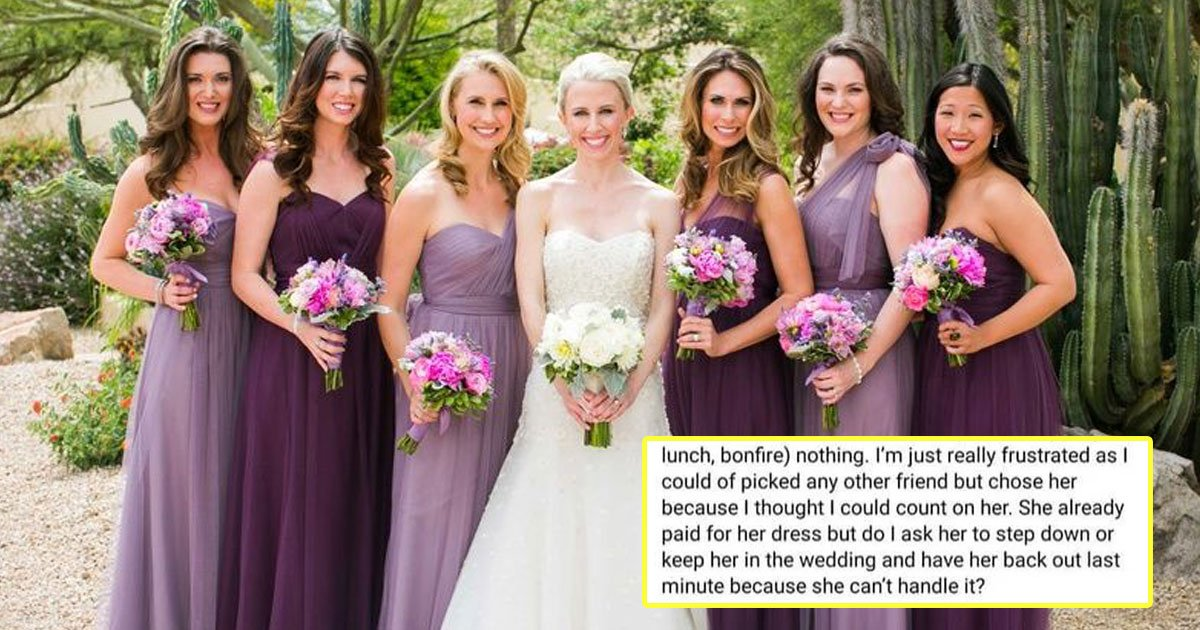 bride asked pregnant bridesmaid step down.jpg?resize=1200,630 - Bride Asked If She Should Tell Her Pregnant Bridesmaid To Step Down And The Internet Is Left Divided