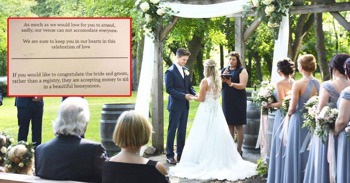 couple asked money for hineymoon.jpg?resize=412,275 - Couple Asked People Not On Their Wedding Guest List to Send Money for Their Honeymoon