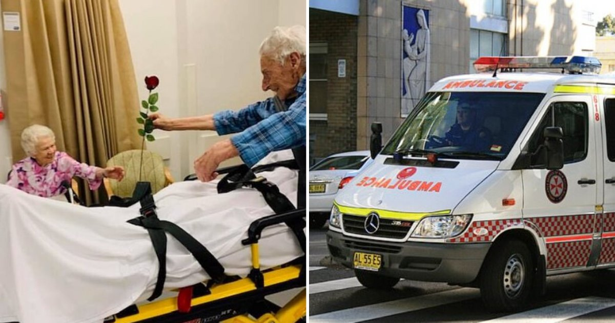 couple5.png?resize=412,232 - 104-Year-Old Husband Gave His Wife A Flower For Valentine's Day As He Was Rushed To Hospital