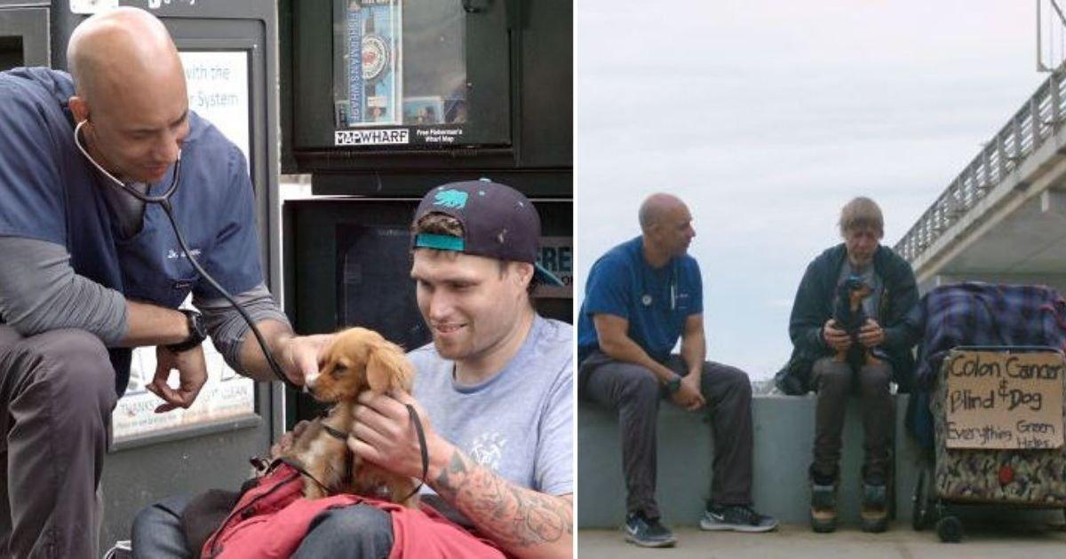 d2 4.jpg?resize=412,232 - Veterinarian Walks Around California to Treat Animals of Homeless People For Free