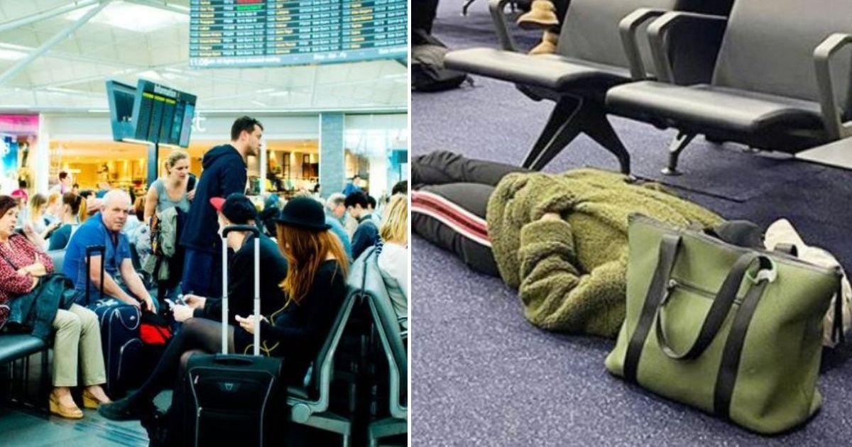 d2 5.jpg?resize=1200,630 - This Woman Passenger was Criticized on Social Media for Sleeping Inappropriately at The Airport