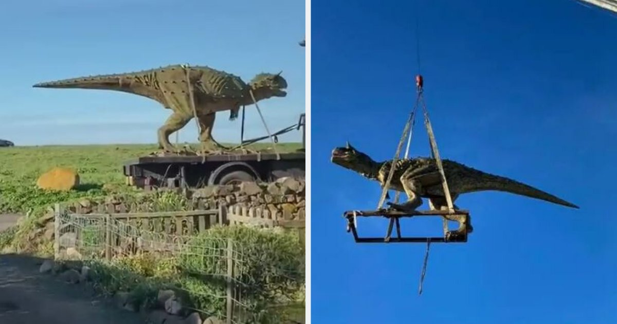 d3 2.png?resize=412,275 - A Father Accidentally Ordered A 19-Feet Carnotaur Statue For His Son Who Is Mad For Dinosaurs