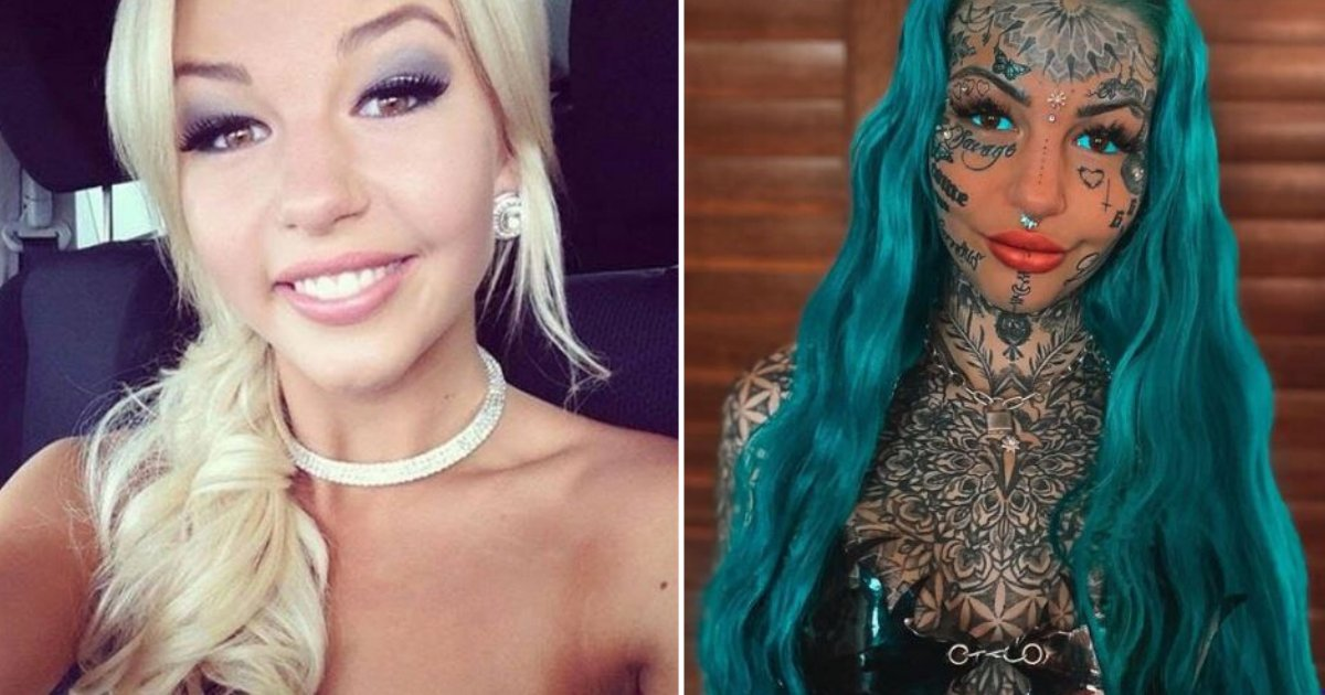 d4 6.png?resize=412,232 - A Woman Spent £20,000 to Cover Her Entire Body Including Eyes with Tattoos