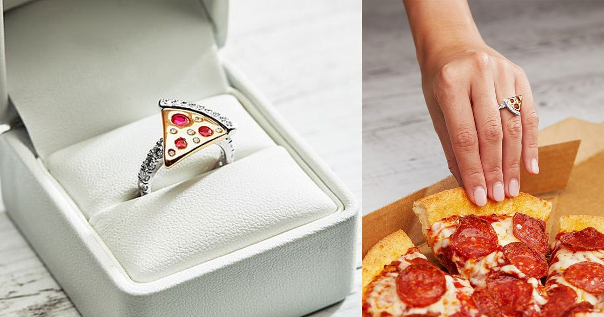 dominos launched pizza shaped engagement ring worth more than 9000.jpg?resize=1200,630 - Domino's Launched A Pizza Shaped Engagement Ring Worth More Than $9,000