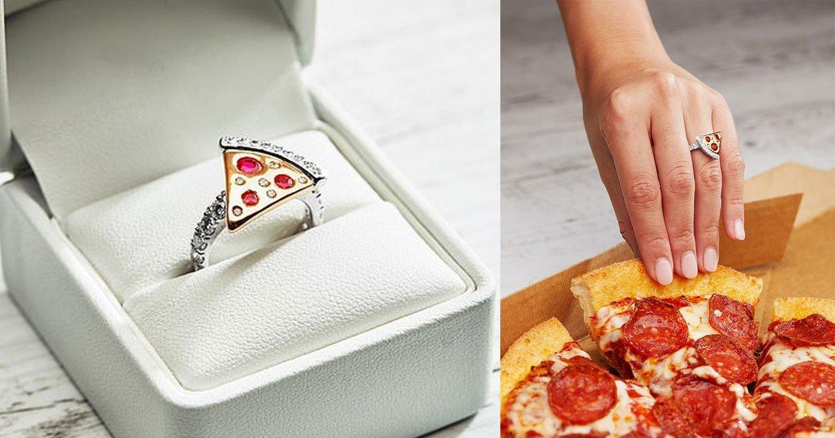 dominos launched pizza shaped engagement ring worth more than 9000.jpg?resize=412,232 - Domino's Pizza a lancé une bague de fiançailles en forme de pizza d'une valeur de plus de 9 000 euros