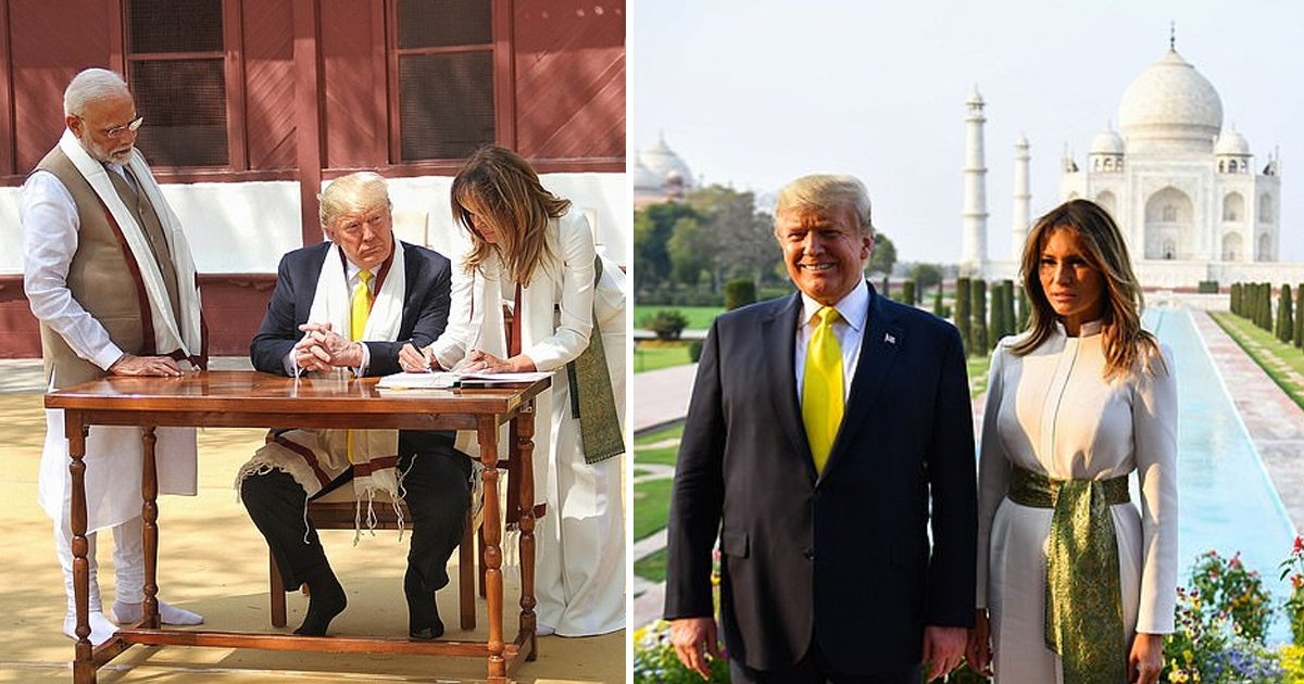 ggdgsss.jpg?resize=1200,630 - India Goes Crazy For The First Lady Melania Trump As She Gets Equal Attention Along With President Trump Her Be Best Campaign Gets Shout Out From Narendra Modi