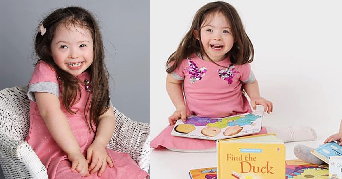 girl with downs syndrome defied the odds and became a child model after medics told she would never live a normal life.jpg?resize=412,232 - A Girl With Down's Syndrome Defied All Odds And Became A Child Model