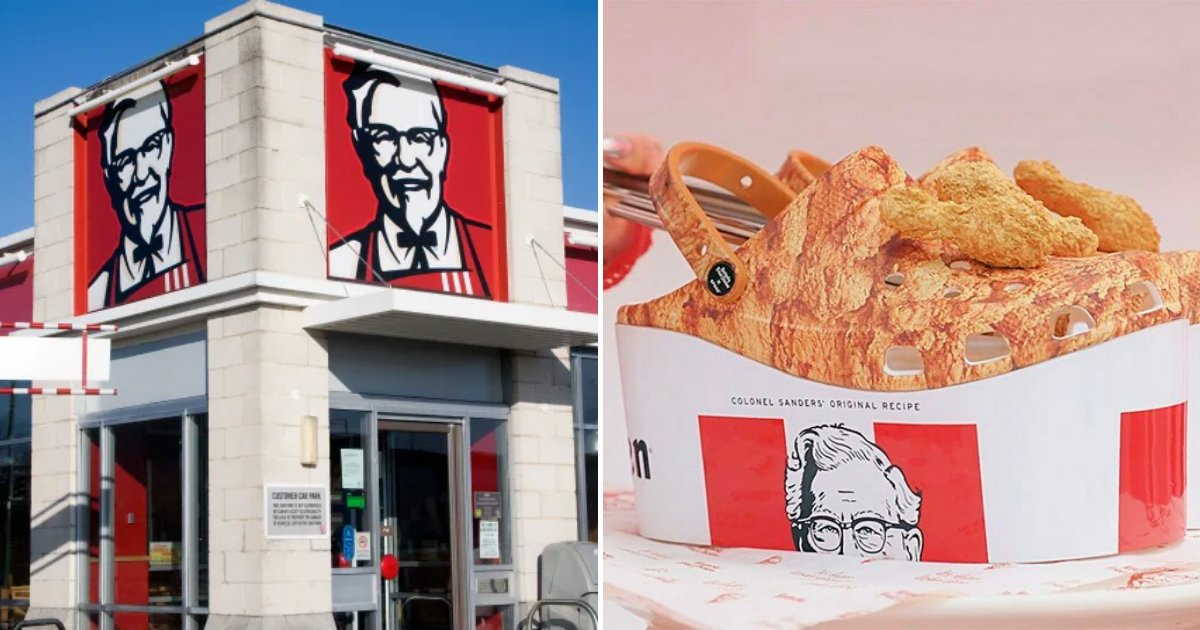 kfc6.png?resize=412,232 - KFC Released CROCS That Look Like Buckets Of Delicious Fried Chicken