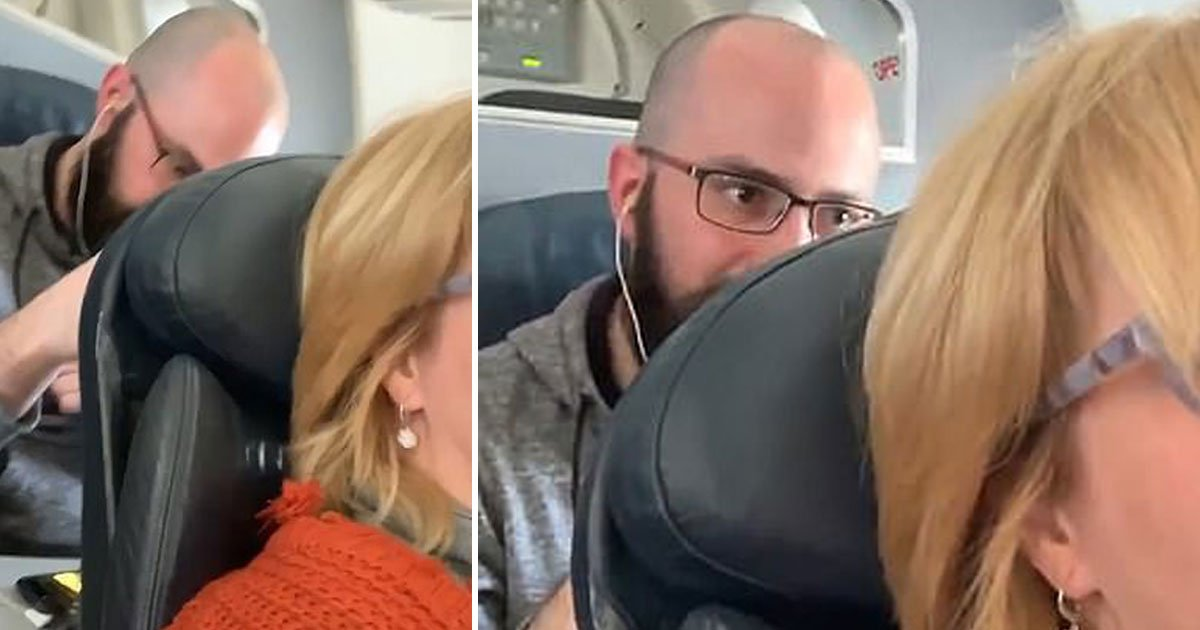 man punched pushed seat american airlines.jpg?resize=1200,630 - American Airlines Passenger Repeatedly Pushing Fellow Traveler's Seat