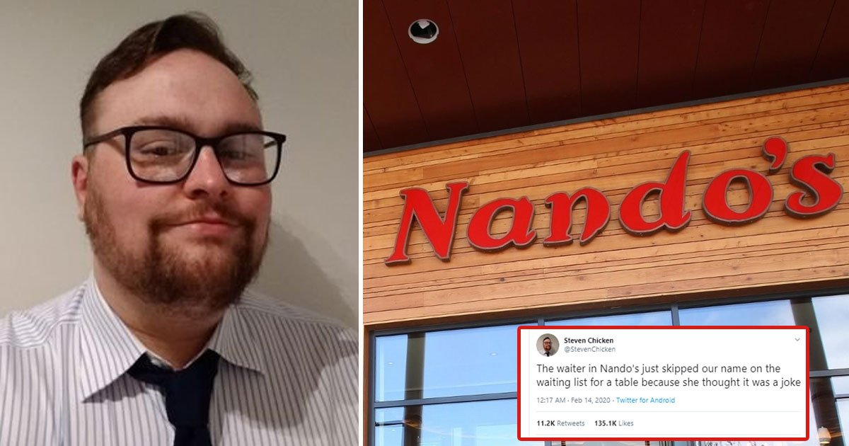 man refused seat nandos mr chicken.jpg?resize=412,232 - Man Was Refused To Take A Seat At Nando's Because Of His Surname
