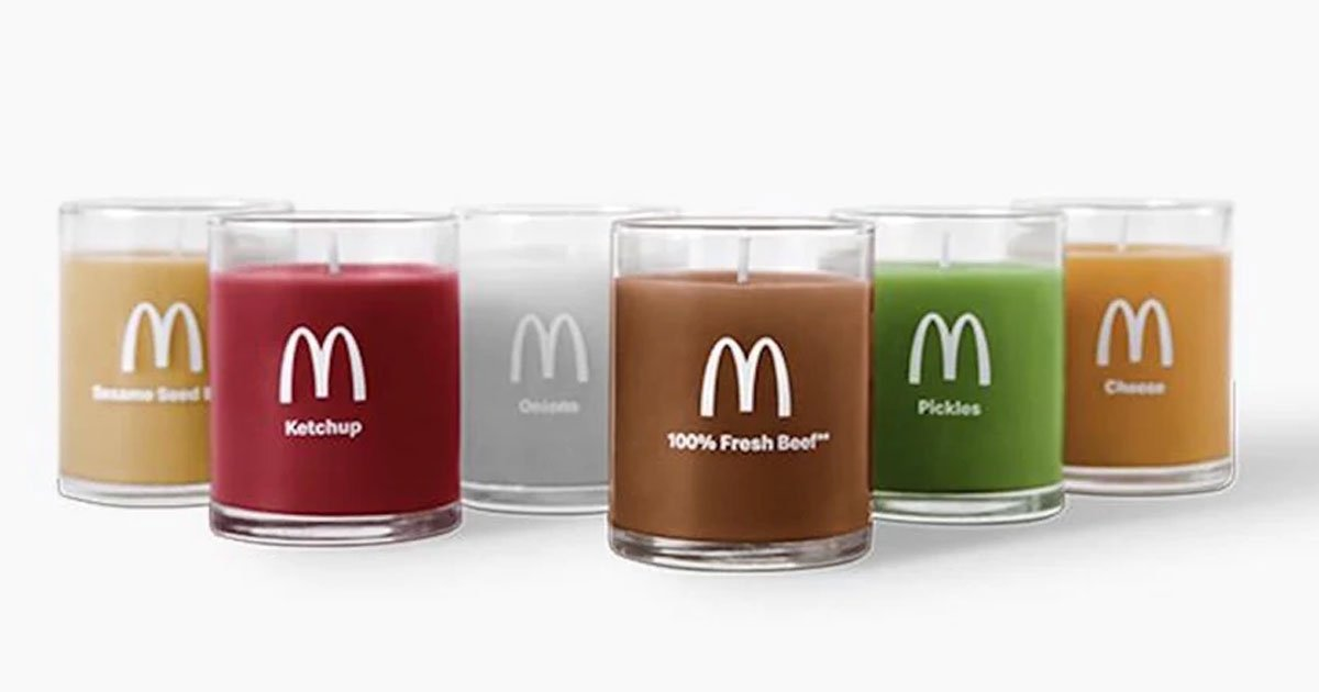 mcdonalds is selling quarter pounder scented candles and each smells like a different ingredient.jpg?resize=412,232 - Mcdonald's Selling Quarter Pounder-Scented Candles