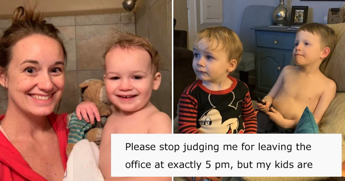 mom12.png?resize=1200,630 - 'Please Stop Judging Me For Leaving The Office At Exactly 5 PM' Mother's Confession Quickly Went Viral