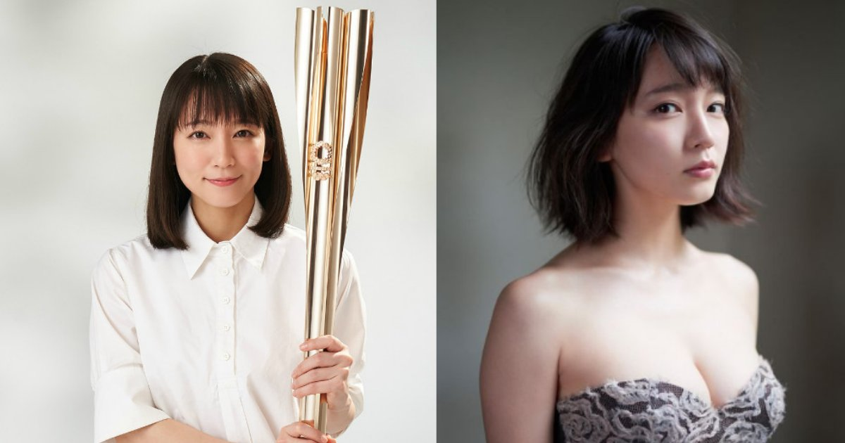 riho.png?resize=300,169 - 東京五輪聖火ランナーに決まった吉岡里帆にまさかの「服装」と「胸揺れ」が期待されている?