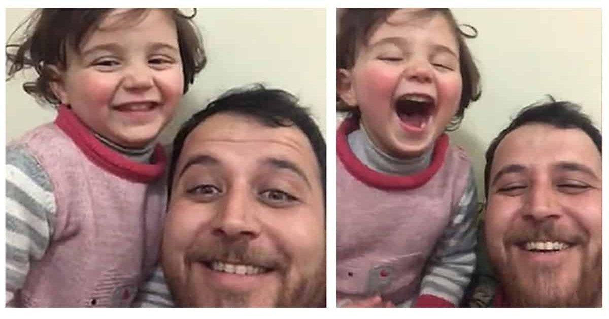 syria e1582233880688.jpg?resize=412,232 - Syrie : Un père de famille invente un jeu pour que sa fille n'ait plus peur des bombes et des bruits de la guerre