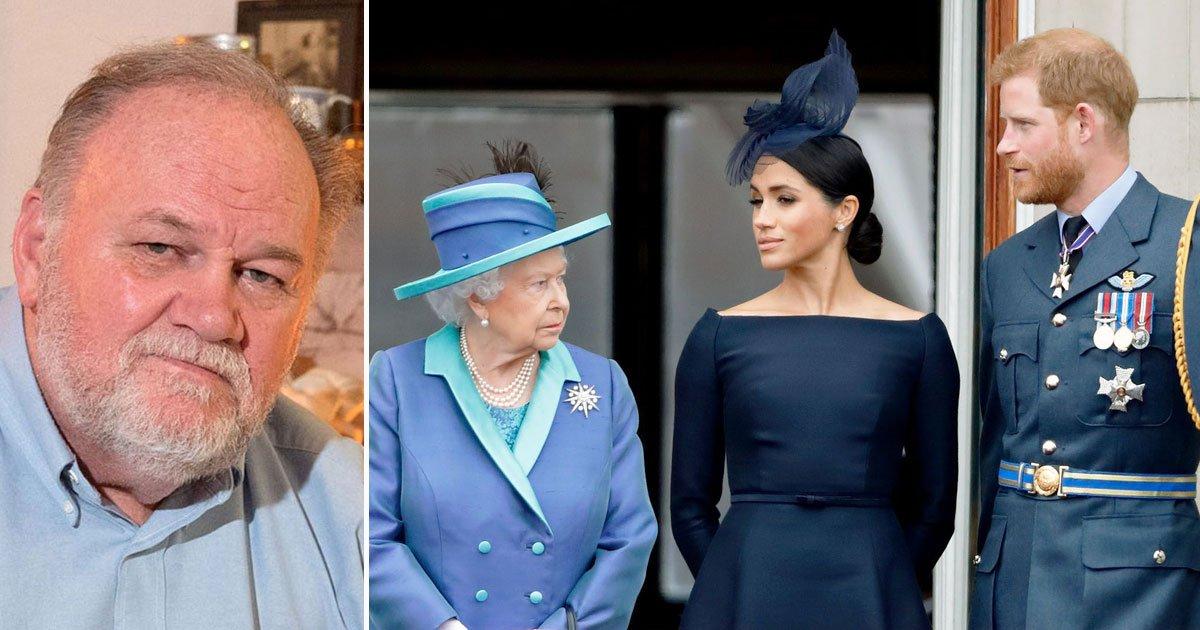 thomas markle slammed meghan harry disrespecting queen.jpg?resize=1200,630 - Thomas Markle Criticized Meghan And Harry For Disrespecting The Queen After The Sussex Royal Branding Issues